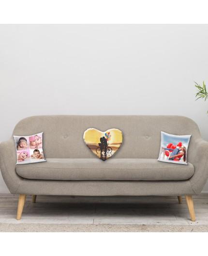 Cuscino Quadrato con retro colorato